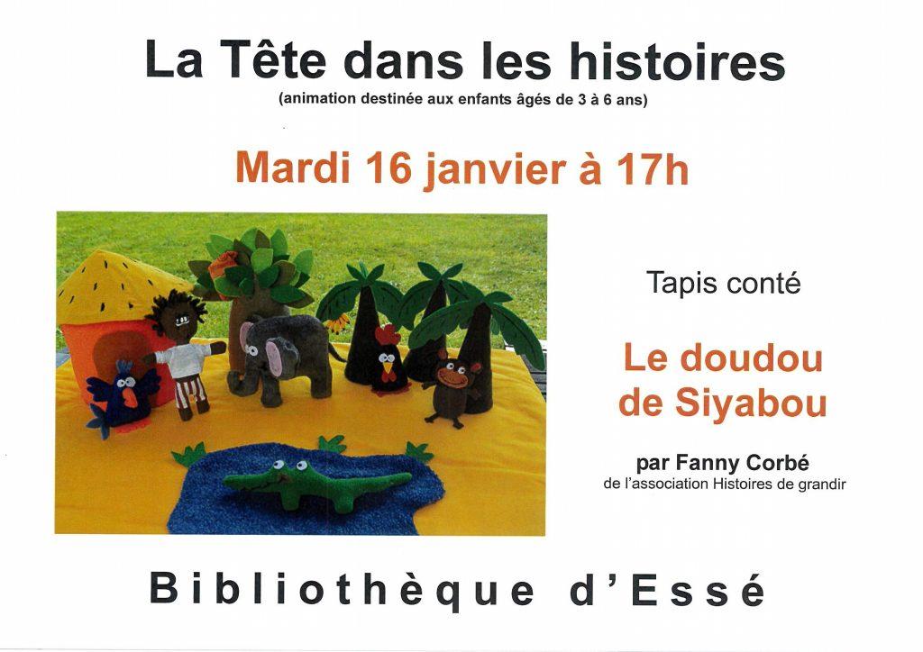 2018-01-16 - La Tête dans les histoires - Le doudou de Siyadou